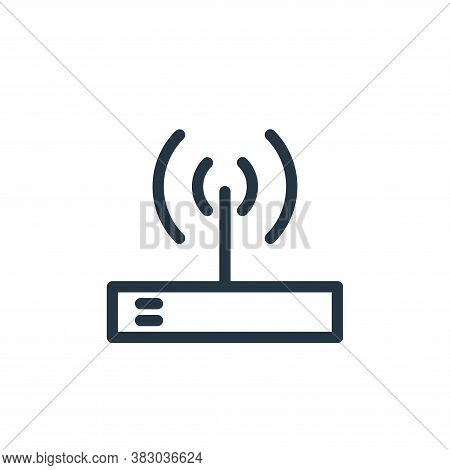 wifi icon isolated on white background from communication and media collection. wifi icon trendy and