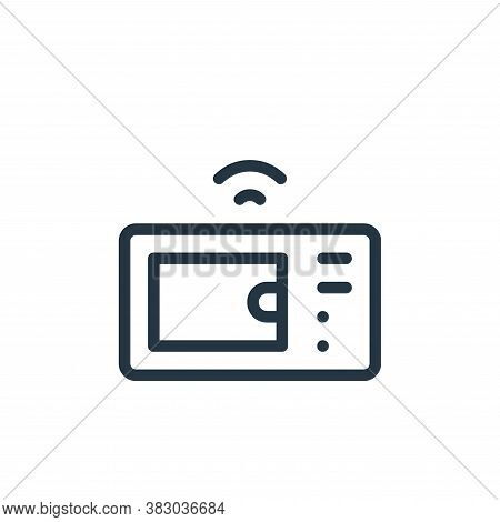 microwave icon isolated on white background from smarthome collection. microwave icon trendy and mod