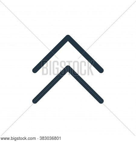 up icon isolated on white background from arrows collection. up icon trendy and modern up symbol for