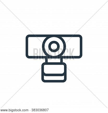 webcam icon isolated on white background from smarthome collection. webcam icon trendy and modern we
