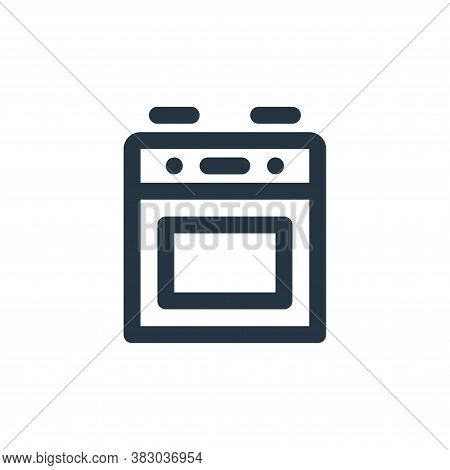 stove icon isolated on white background from furniture collection. stove icon trendy and modern stov