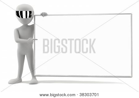 3D Small Men - Your Empty Board! 3D Image