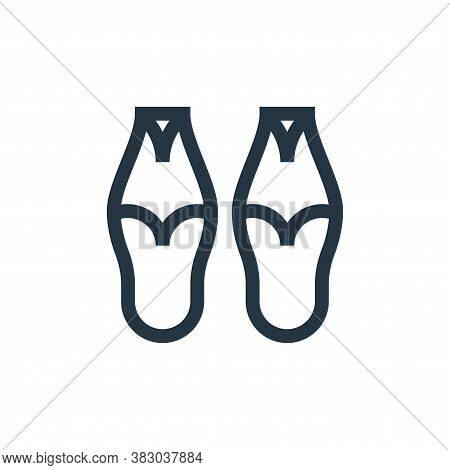 slippers icon isolated on white background from morocco collection. slippers icon trendy and modern