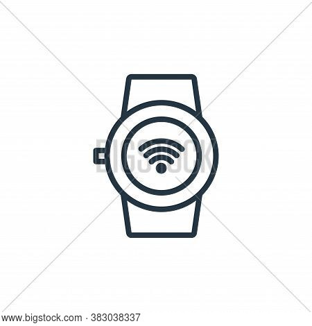 smart watch icon isolated on white background from internet of thing collection. smart watch icon tr