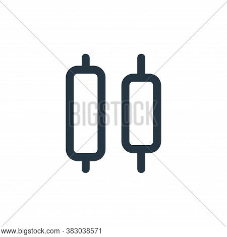 distribute objects icon isolated on white background from text editor collection. distribute objects