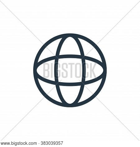 world icon isolated on white background from communication and media collection. world icon trendy a