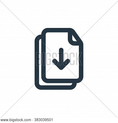 download file icon isolated on white background from file and folder collection. download file icon