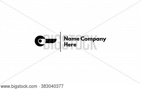 Vector Logo On Which The Abstract Image Of The Door Handle.