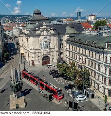 View Of Bratislava Philharmonic Building With Surrounding Streets, Slovakia Capital City From New Ci