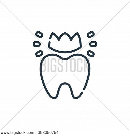 tooth icon isolated on white background from dentist collection. tooth icon trendy and modern tooth