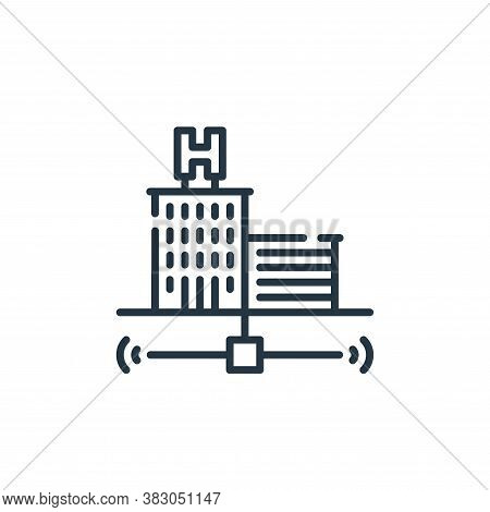 hotel icon isolated on white background from smart city collection. hotel icon trendy and modern hot
