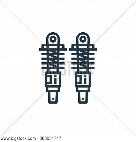 shock absorber icon isolated on white background from car service collection. shock absorber icon tr