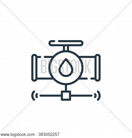water system icon isolated on white background from smart city collection. water system icon trendy
