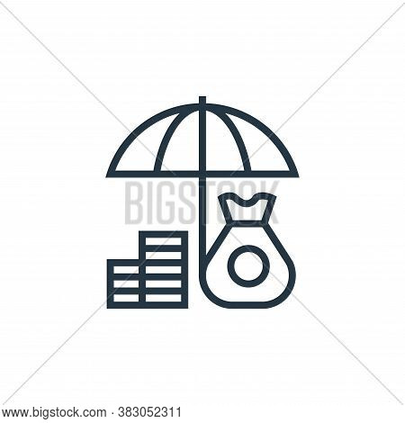 insurance icon isolated on white background from banking collection. insurance icon trendy and moder
