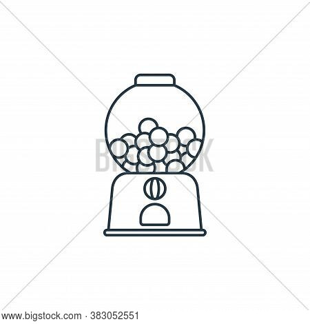 candy machine icon isolated on white background from carnival collection. candy machine icon trendy