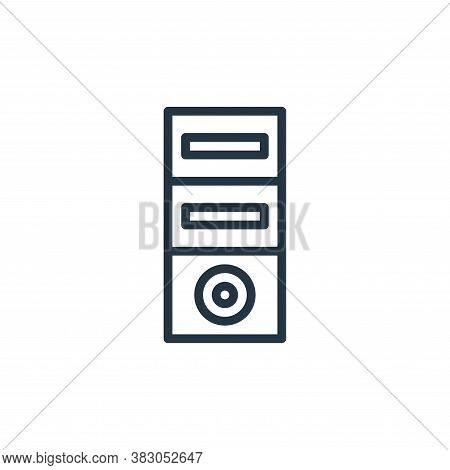 computer tower icon isolated on white background from computer hardware collection. computer tower i