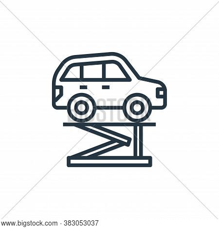 lifter icon isolated on white background from car service collection. lifter icon trendy and modern