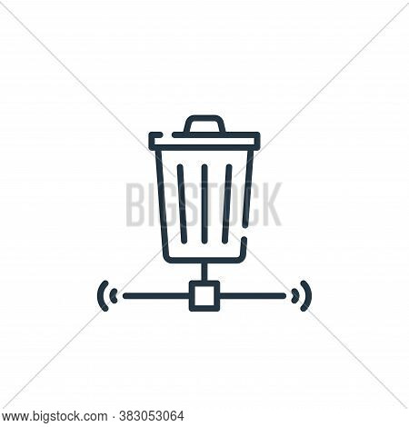 trash bin icon isolated on white background from smart city collection. trash bin icon trendy and mo
