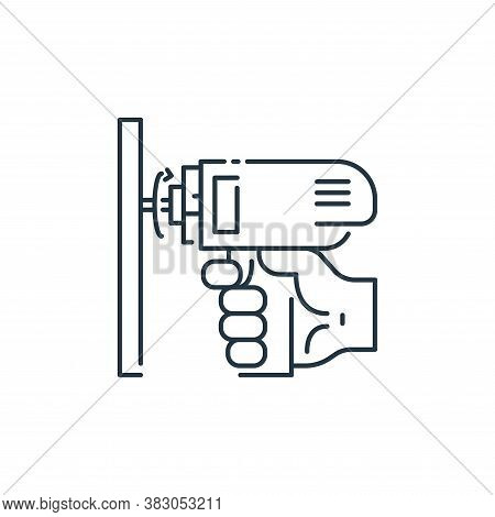drill icon isolated on white background from labour day collection. drill icon trendy and modern dri