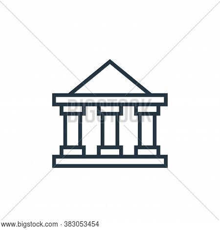 banking icon isolated on white background from banking collection. banking icon trendy and modern ba