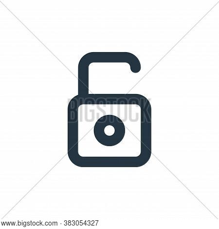 unlock icon isolated on white background from security collection. unlock icon trendy and modern unl