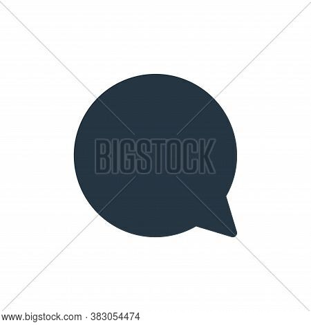 speech bubble icon isolated on white background from sosmed collection. speech bubble icon trendy an