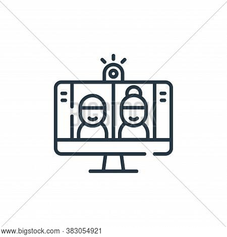 video conference icon isolated on white background from digital learning collection. video conferenc