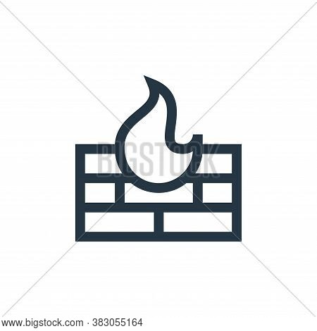 firewall icon isolated on white background from web maintenance collection. firewall icon trendy and