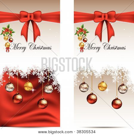 beauty christmas card background with snow