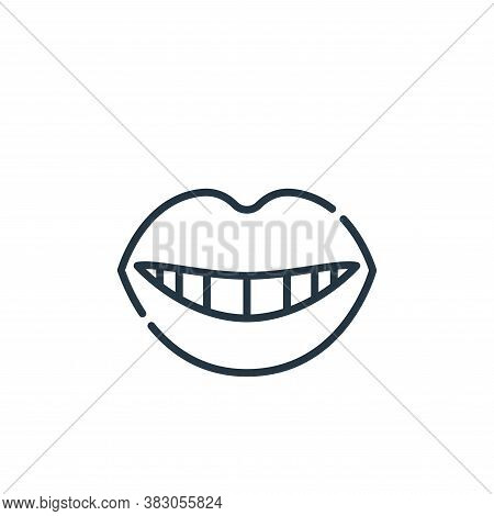 smile icon isolated on white background from dentist collection. smile icon trendy and modern smile