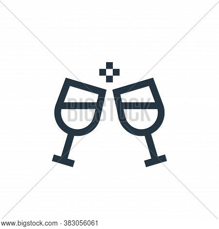 cheers icon isolated on white background from celebration collection. cheers icon trendy and modern