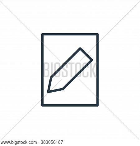 edit icon isolated on white background from user interface collection. edit icon trendy and modern e