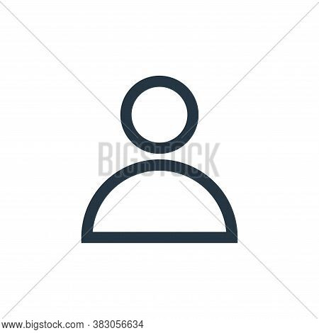 user icon isolated on white background from basic ui collection. user icon trendy and modern user sy