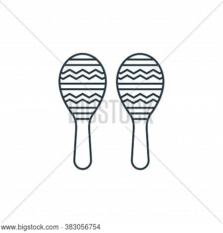 maracas icon isolated on white background from carnival collection. maracas icon trendy and modern m