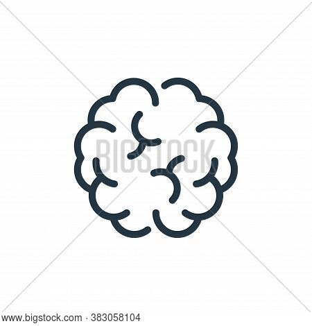 brain icon isolated on white background from science collection. brain icon trendy and modern brain