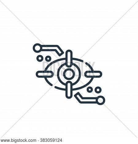 retina icon isolated on white background from cyber security collection. retina icon trendy and mode