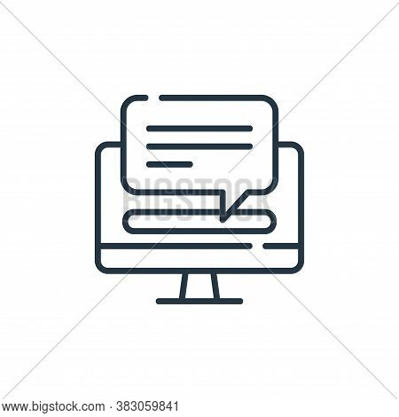 computer icon isolated on white background from digital learning collection. computer icon trendy an