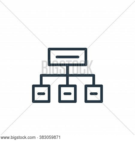organization icon isolated on white background from working in the office collection. organization i