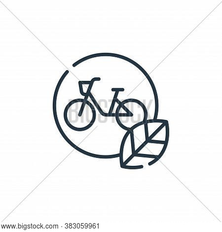 bicycle icon isolated on white background from ecology collection. bicycle icon trendy and modern bi