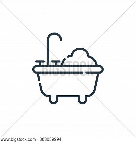 bathtub icon isolated on white background from hygiene routine collection. bathtub icon trendy and m