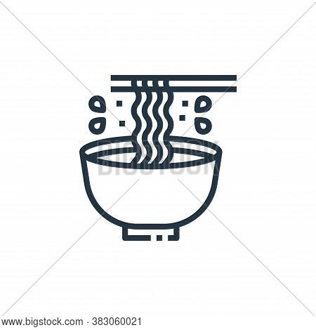 noodle icon isolated on white background from cooking collection. noodle icon trendy and modern nood