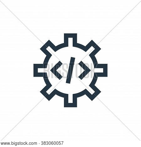 settings icon isolated on white background from web maintenance collection. settings icon trendy and