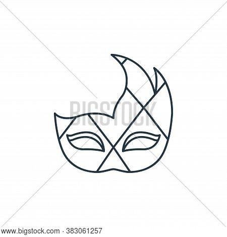 carnival mask icon isolated on white background from carnival collection. carnival mask icon trendy