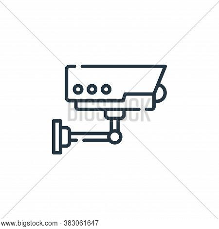 cctv icon isolated on white background from smart city collection. cctv icon trendy and modern cctv