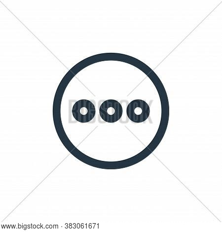 more icon isolated on white background from basic ui collection. more icon trendy and modern more sy