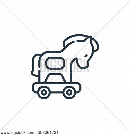 trojan icon isolated on white background from cyber security collection. trojan icon trendy and mode