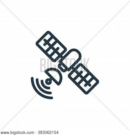 satellite icon isolated on white background from science collection. satellite icon trendy and moder