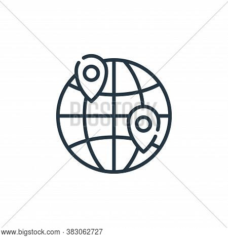worldwide icon isolated on white background from cyber security collection. worldwide icon trendy an