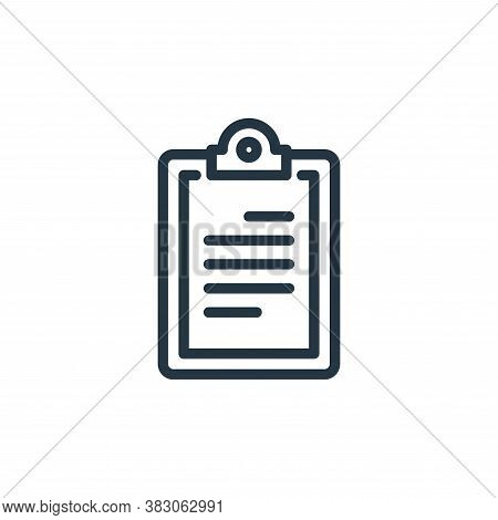 clipboard icon isolated on white background from science collection. clipboard icon trendy and moder
