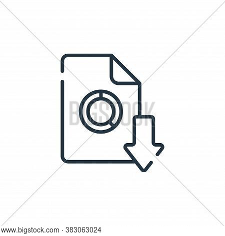 download icon isolated on white background from digital learning collection. download icon trendy an